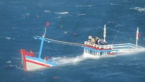 Cứu nạn thành công 12 ngư dân chìm tàu trên biển