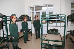 [ẢNH] Bộ Tư lệnh Thủ đô chuẩn bị khu vực đón tiếp người trở về từ vùng dịch