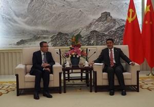 Đại sứ Đặng Minh Khôi chúc Tết Ban Liên lạc Đối ngoại Trung Quốc