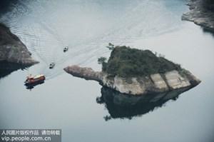 Đảo rùa khổng lồ chỉ xuất hiện vào tháng 3 ở Trung Quốc