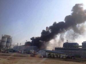 Dập tắt kịp thời đám cháy tại Nhà máy Nhiệt điện Thái Bình 2