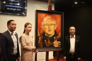 Bức tranh chân dung HLV Park Hang Seo được đấu giá hơn 22 nghìn USD