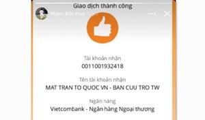 BẢN TIN MẶT TRẬN: UBTƯ MTTQ Việt Nam tiếp nhận ủng hộ từ các cơ quan, đơn vị, doanh nghiệp