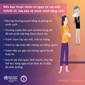 [Infographic] Những việc cần làm ngay nếu bạn thuộc nhóm nguy cơ cao mắc Covid-19
