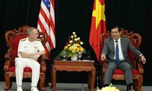 Đoàn Hải quân Hoa Kỳ chào xã giao lãnh đạo TP Đà Nẵng