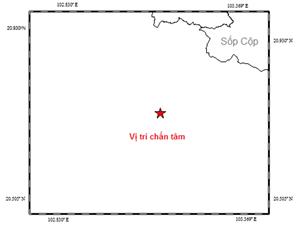 Động đất 3,7 độ Richter tại khu vực gần biên giới Việt-Lào