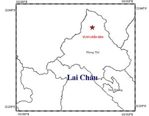 Xảy ra động đất độ lớn 3,8 tại huyện miền núi Lai Châu
