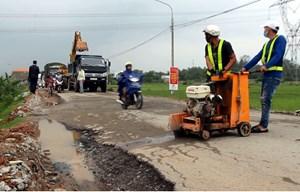 Dừng sửa chữa tuyến đường 40B do tắc nghẽn giao thông