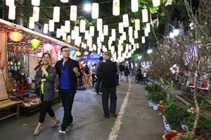 Phố đi bộ Hà Nội đón tết
