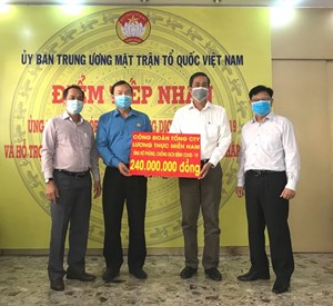 Ban Công tác phía Nam, UBTƯ MTTQ Việt Nam tiếp nhận 290 triệu đồng ủng hộ phòng, chống dịch