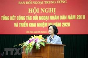 Tiếp tục mở rộng và nâng cao chất lượng hoạt động đối ngoại nhân dân