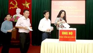 Báo Phú Thọ, Sở Thông tin và truyền thông phát động ủng hộ phòng chống dịch Covid-19