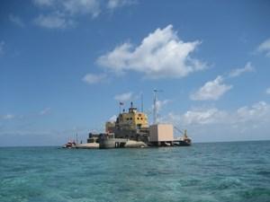 Kỷ niệm xây dựng đảo Đá Nam thuộc quần đảo Trường Sa, hè 1988