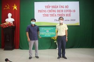 Thừa Thiên - Huế: Tiếp tục tiếp nhận ủng hộ phòng, chống dịch Covid-19