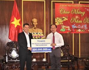Thaco ủng hộ 500 triệu đồng để xây nhà đại đoàn kết cho người nghèo Quảng Nam