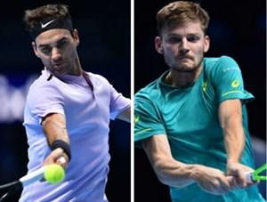 Federer thua ngược Goffin, dừng bước ở bán kết ATP Finals