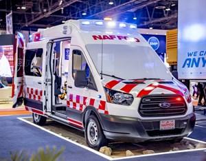 Ford tăng mạnh doanh số Transit tại Trung Đông nhờ... hoán cải thành xe cứu thương