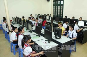 Gần 500 thí sinh dự Hội thi Tin học trẻ TP Hà Nội
