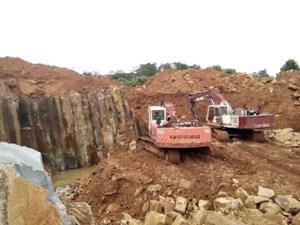 Gia Lai: Làm rõ vụ khai thác đá trái phép