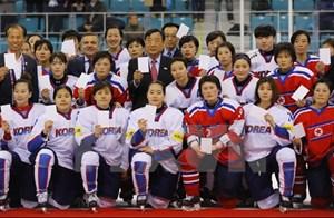 Hàn Quốc và Triều Tiên nhất trí thành lập đội khúc côn cầu nữ chung