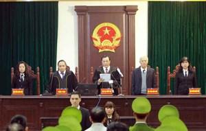 Hình ảnh buổi tuyên án ông Đinh La Thăng, Trịnh Xuân Thanh
