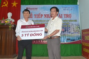 Hỗ trợ 5 tỷ đồng xây trường mầm non ở đảo Lý Sơn