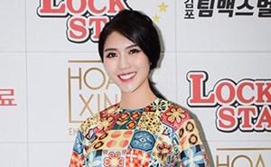 Hoa hậu Tường Linh ghi hình cho Đài SBS