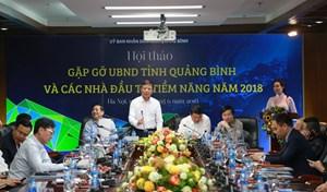 Hội thảo gặp gỡ UBND tỉnh Quảng Bình và các nhà đầu tư tiềm năng
