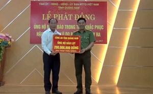 Hơn 1,1 tỷ đồng cho đồng bào tỉnh Quảng Nam thiệt hại do bão