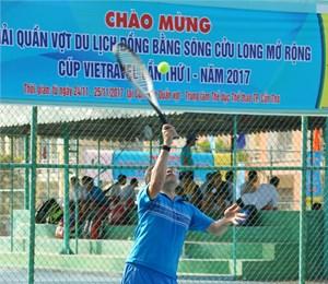 Hơn 140 VĐV khởi tranh Giải Quần vợt du lịch ĐBSCL lần thứ I