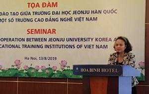 Tọa đàm hợp tác đào tạo nghề giữa Việt Nam và Hàn Quốc