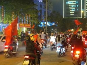 Huế: Ngất ngây với chiến thắng của U23 Việt Nam