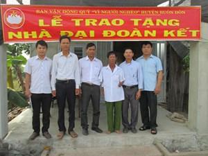 Đắk Lắk: Xây dựng 150 nhà Đại đoàn kết cho các hộ nghèo