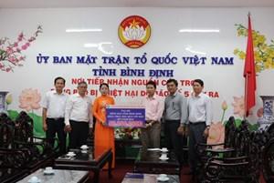 Mặt trận Bình Định: Hỗ trợ 10 hộ dân xây lại nhà bị sập do mưa bão