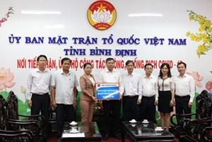 Bình Định: Mặt trận tiếp nhận 120 triệu đồng ủng hộ phòng, chống dịch Covid-19