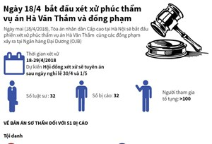 [Infographics] Hôm nay bắt đầu xét xử phúc thẩm vụ Hà Văn Thắm