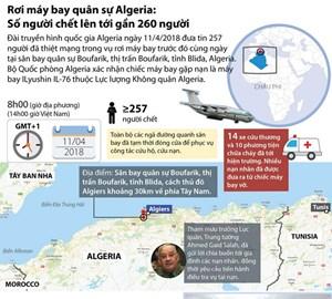 [Infographics] Rơi máy bay ở Algeria: Số người chết lên gần 260 người