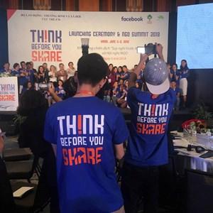 Kêu gọi giới trẻ Việt 'suy nghĩ trước khi chia sẻ'