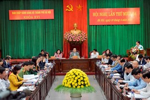 Khai mạc Hội nghị Ban Chấp hành Đảng bộ TP Hà Nội lần thứ 13