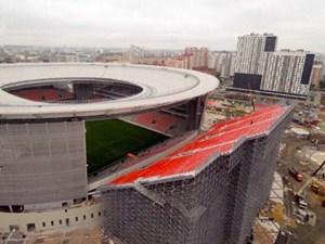 Khán đài nằm bên ngoài sân ở World Cup 2018