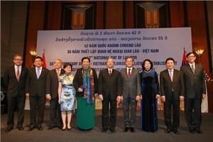 Lãnh đạo cấp cao Việt Nam dự kỷ niệm lần thứ 42 Quốc khánh nước CHDCND Lào