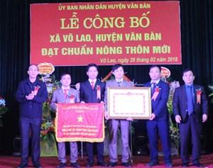 Lào Cai: Xã Võ Lao đón nhận Bằng công nhận đạt chuẩn nông thôn mới
