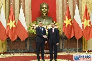 ẢNH: Lễ đón chính thức Tổng thống Ba Lan tại Phủ Chủ tịch