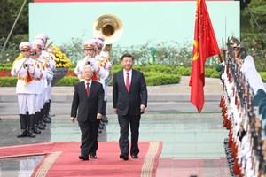 Lễ đón Tổng Bí thư, Chủ tịch Trung Quốc Tập Cận Bình thăm Việt Nam