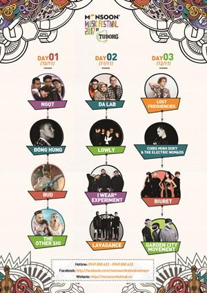 Lễ hội âm nhạc quốc tế Gió mùa 2017