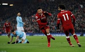 Liverpool đánh bại Manchester City sau trận cầu kịch tính