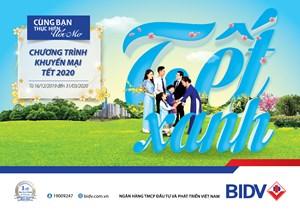 BIDV tri ân khách hàng với 'Tết xanh'