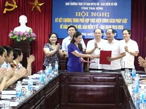 Mặt trận Thái Bình phối hợp thực hiện chính sách bảo hiểm xã hội, bảo hiểm y tế
