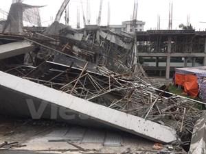 Một công trình trường mầm non tại Mỹ Đình bất ngờ đổ sập