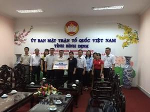 MTTQ tỉnh Bình Dương hỗ trợ Bình Định 1 tỷ đồng khắc phục hậu quả bão lụt